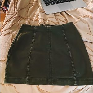 Free People Green Skirt